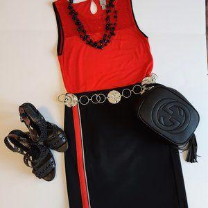 TRISTAN Black Pencil Skirt